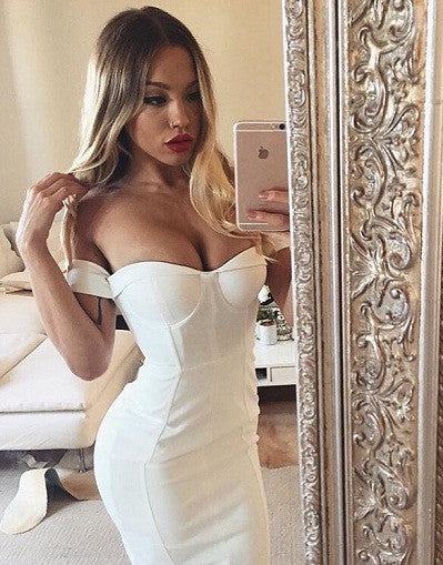 Off Shoulder Bandage Dress - 4 colors - Express Ship Included - Awesome World - Online Store  - 1