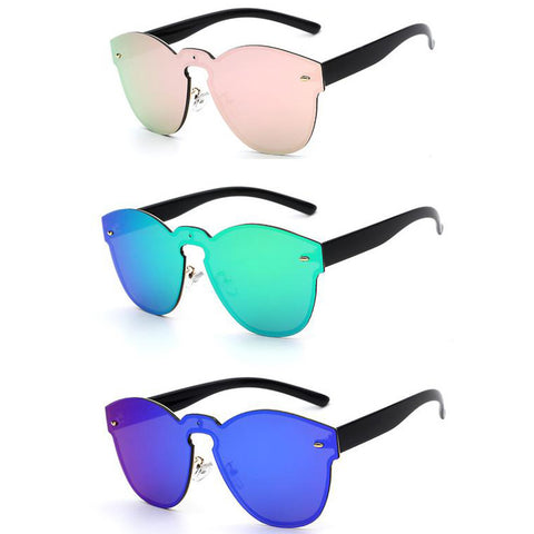 Oval Reflective Shades