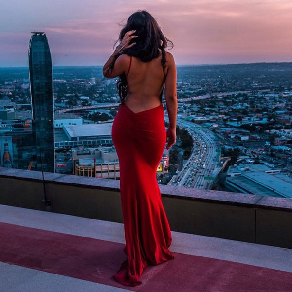 The Red Backless Dress - Awesome World - Online Store  - 5