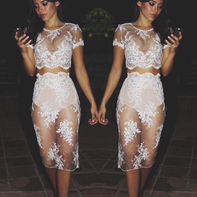 Celebrity White Lace Set - Awesome World - Online Store  - 4
