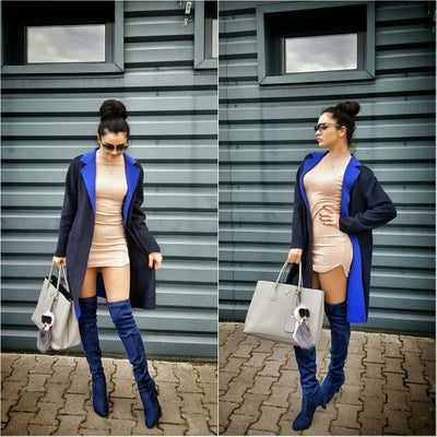 Kardash Royal Blue Over Knee Boots - Awesome World - Online Store  - 3