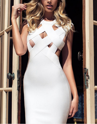 Bandage Cut Out Strappy Dress - 5 colors - Awesome World - Online Store  - 2