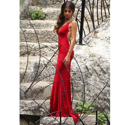 The Red Backless Dress - Awesome World - Online Store  - 6