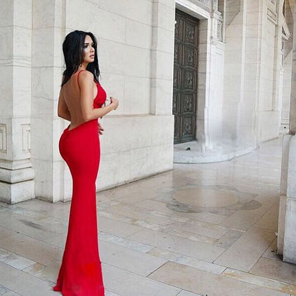 The Red Backless Dress - Awesome World - Online Store  - 2