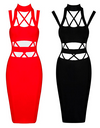 Cut Out Strappy Bandage Dress - 3 colors - Awesome World - Online Store  - 5