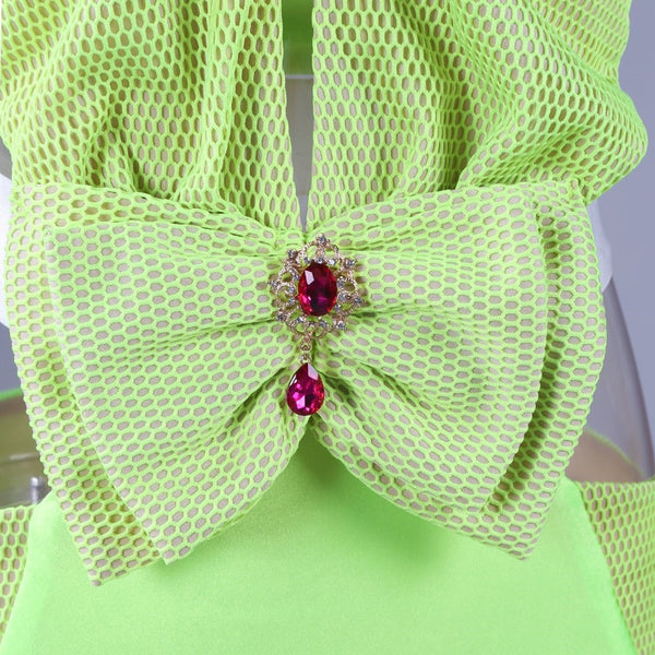 Glam Bow Swimsuit - Green & White - Awesome World - Online Store  - 3