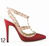 12 cm Heel Bright Rivets Pumps - 10 colors - Awesome World - Online Store  - 16