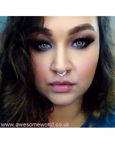 Nose Fake Piercing w/ Rhinestones - 3 colors - Awesome World - Online Store  - 10