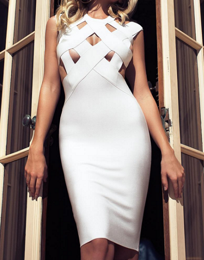 Bandage Cut Out Strappy Dress - 5 colors - Awesome World - Online Store  - 3