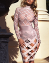 Bandage Mesh Cut Out Dress w/ Panties - 3 colors - Awesome World - Online Store  - 1