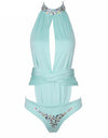 Glam 2 pieces Monokini - Blue & Black - Awesome World - Online Store  - 1
