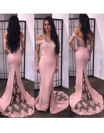 Doll Pink Lace Gown - Awesome World - Online Store  - 2