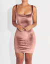 Soft Velvet Pink Classy Dress - Awesome World - Online Store  - 1