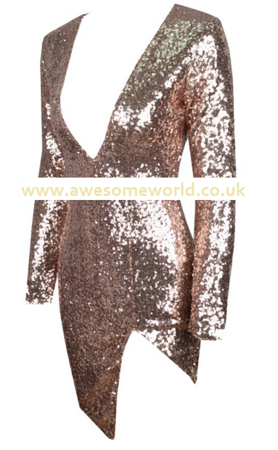 Khloe Glitter Dress - Gold or Black - Awesome World - Online Store  - 5