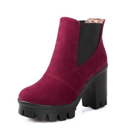 Platform Ankle Boots - 4 colors - Awesome World - Online Store  - 4