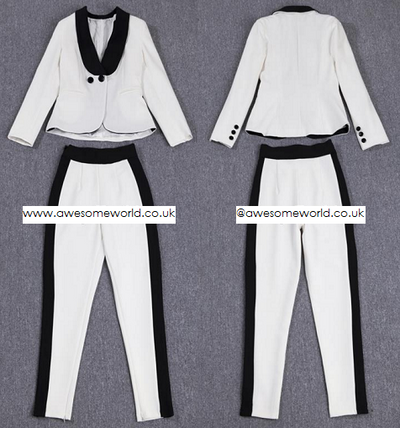 Premium Cara Kendall Jacket+Pants Pantsuit Set - Awesome World - Online Store  - 5