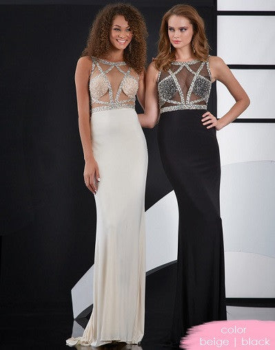 Mesh Cut Out Sequinned Gown - 3 colors - Awesome World - Online Store  - 2