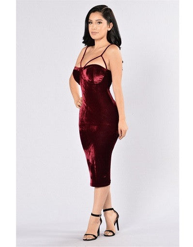 Velvet Bustier Dress - Awesome World - Online Store  - 2