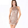 Glitter Halter Neck Dress - 2 colors - Awesome World - Online Store  - 3