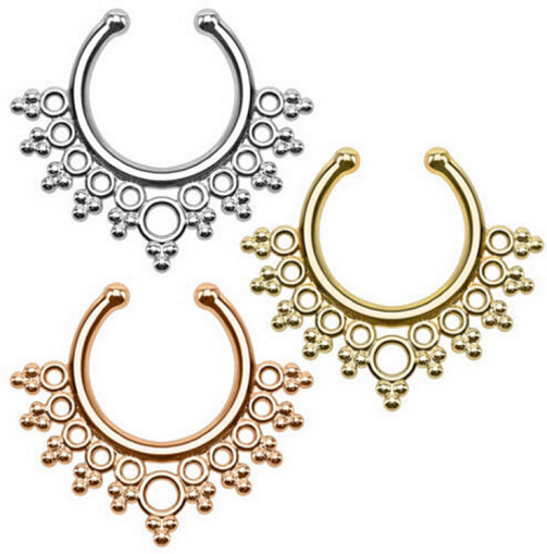 Nose Fake Boho Piercing - 3 colors - Awesome World - Online Store  - 4