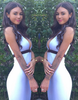 White V-Neck Halter Dress - Awesome World - Online Store  - 1