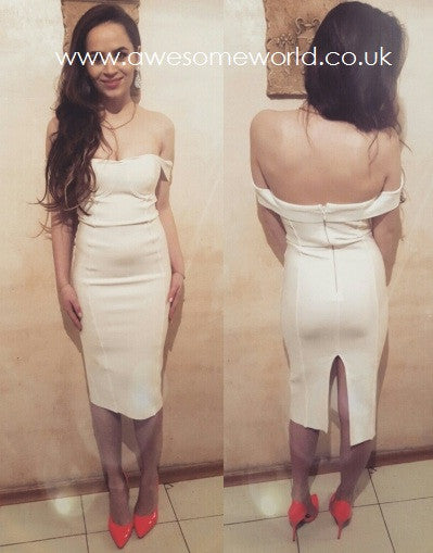 Off Shoulder Bandage Dress - 4 colors - Express Ship Included - Awesome World - Online Store  - 6
