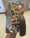 Soft Gold Case with Fringes & Chain - Awesome World - Online Store  - 1