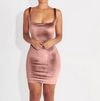 Soft Velvet Pink Classy Dress - Awesome World - Online Store  - 3