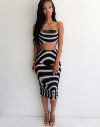 Kylie Striped Two Pieces Set - 2 colors - Awesome World - Online Store  - 1