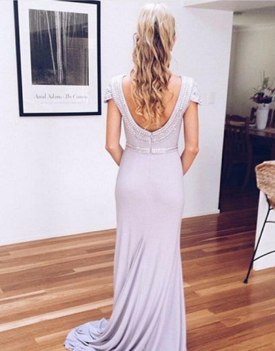 Orchid Backless Gown - Awesome World - Online Store  - 1