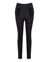 Black Bandage Lace up Pants