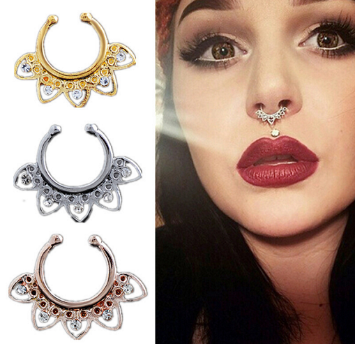 Nose Fake Piercing w/ Rhinestones - 3 colors - Awesome World - Online Store  - 3