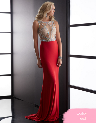 Mesh Cut Out Sequinned Gown - 3 colors - Awesome World - Online Store  - 3