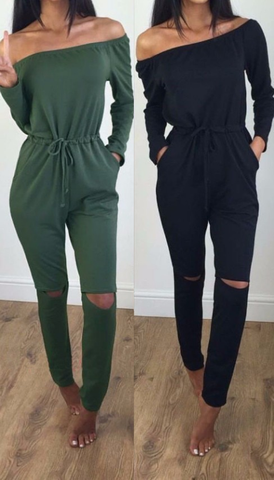 Comfy yet Stylish Jumpsuit - Black&Green