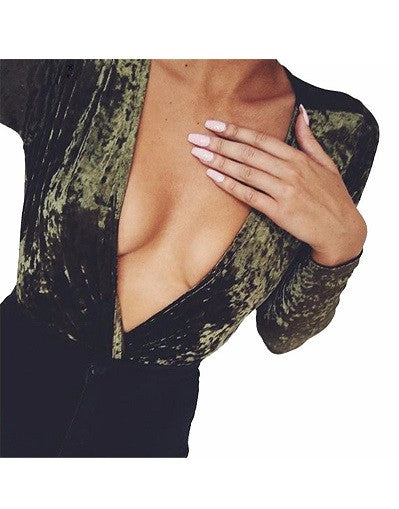Velvet Bodysuit - Green & Pink - Awesome World - Online Store  - 1