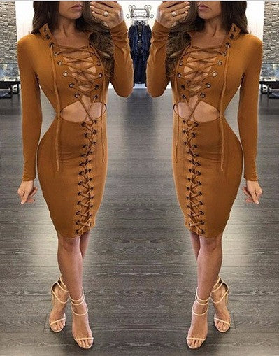 Moda Lace Up Dress - 3 colors - Awesome World - Online Store  - 2