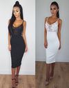 Mesh With Your Mind Dress - White&Black - Awesome World - Online Store  - 1