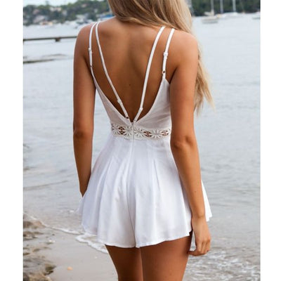 White Sensual Lace Playsuit - Awesome World - Online Store  - 3