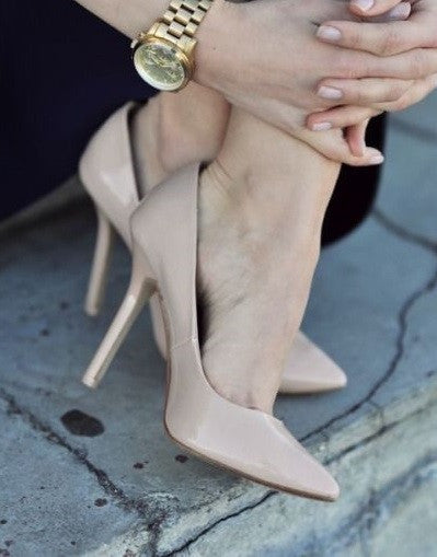Shiny Nude Stiletto - 3 Heel Sizes - Awesome World - Online Store  - 4