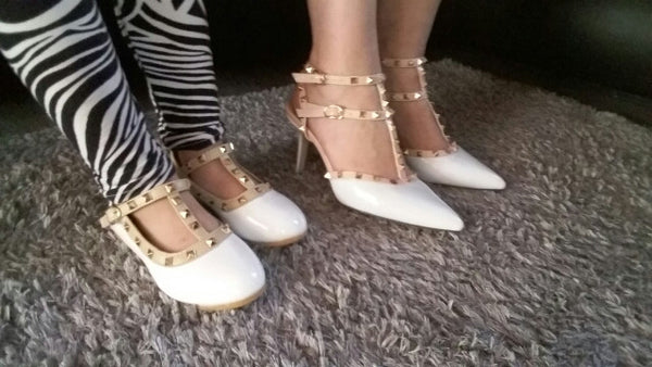 3 Straps Rivets Heels - 4 colors - Awesome World - Online Store  - 5