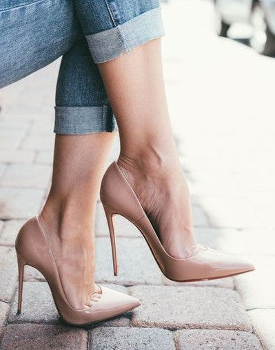 Shiny Nude Stiletto - 3 Heel Sizes - Awesome World - Online Store  - 2