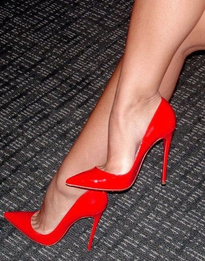 Shiny Red Stiletto - 3 Heel Sizes - Awesome World - Online Store  - 2