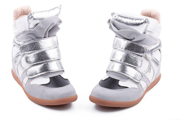 Wedge Sneakers - Metallic - Awesome World - Online Store  - 4