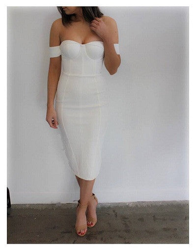 Off Shoulder Bandage Dress - 4 colors - Express Ship Included - Awesome World - Online Store  - 4
