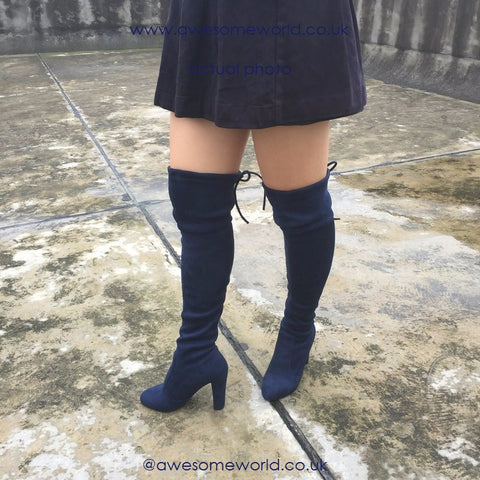 Kardash Royal Blue Over Knee Boots