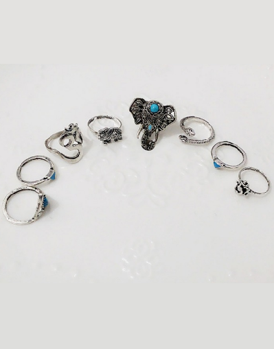 8 Pieces Ring Set - Awesome World - Online Store  - 2