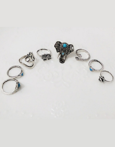 8 Pieces Ring Set