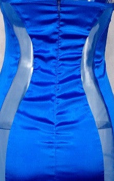 Satin Sensuous Dress - Blue & Red - Awesome World - Online Store  - 4