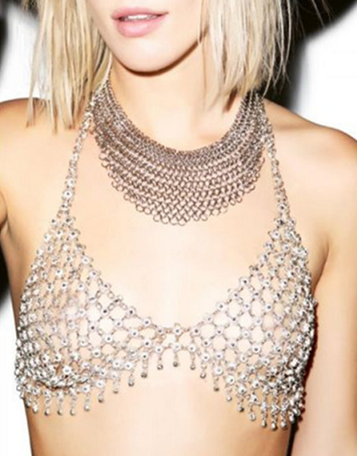 Fringe Metal Bra - Awesome World - Online Store  - 1