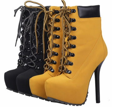 Ankle Yellow Boots - Awesome World - Online Store  - 1